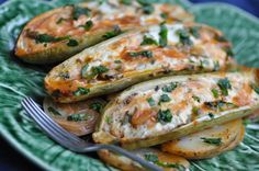 Marrows filled with ricotta and baked in the oven (qarabaghli mimli bl-irkotta)