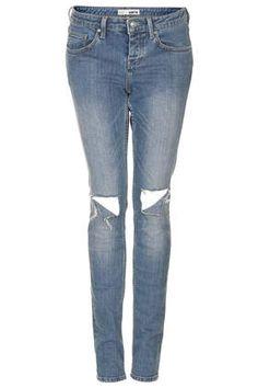 MOTO Ripped Skinny Rita Jeans - Denim - Clothing