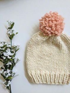 f072384874a Looking to tackle your first knit beanie  This pattern is the perfect place  to start!