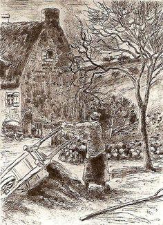 Camille Pissaro  Femme vidant une brouette, 1880