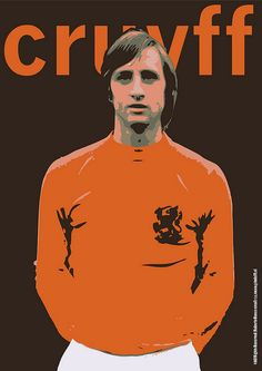Johan Cruyff is a former Dutch footballer and football coach. Cruyff is recognized worldwide as one of the best footballers of all time. Pure Football, Football Icon, World Football, Vintage Football, Football Soccer, Soccer Stars, Sports Stars, Good Soccer Players, Football Players