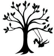 Image result for silhouette tree swing