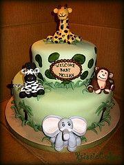 Jungle Baby Shower cake ;0)