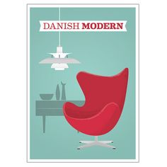 I would frame this 'Danish Modern' print (particularly if they had similar prints for other styles)