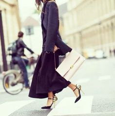 On Model: Stella McCartney blazer, skirt, and bag.  A pair of chic heels gives a menswear-inspired blazer a feminine touch.   50+Amazing+Winter+Outfit+Ideas+to+Try+Now+via+@WhoWhatWear