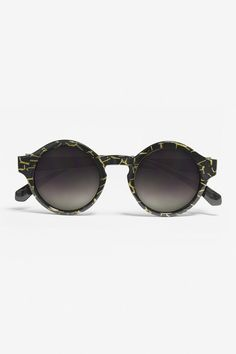 Round sunglasses are the perfect accessory for summer and with this black and gold fleck frame design and unique keyhole nose bridge, you really cannot say no Zulu, Ss 15, Hippie Chic, Black Gold, Round Sunglasses, Lady, Mini, Accessories, Collection