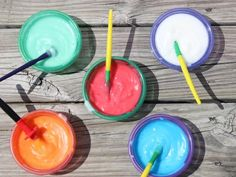 Get creative and have a blast with safe, homemade face & body paint! Great outdoor fun, and rinses right off.
