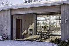 Dog Trot House, Scottish Cottages, Lake Flato, England Countryside, Hill Country Homes, Modern Barn House, Shelter Design, Best Barns, Black Barn