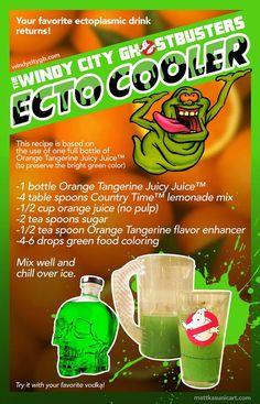 Ghostbusters Ecto Cooler recipe! Perfect for Halloween parties! #Halloween…