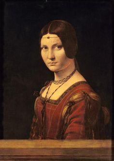 Leonardo da Vinci - Bildnis einer jungen Frau