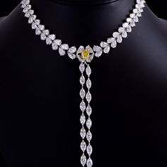 Center of attention, total 94 carats. Golden Era Diamond Necklace - by Forms