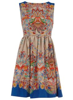 Sweetness! --> LOVE the print on this pretty shift dress...