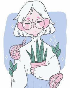 Ideas pastel succulent drawing for 2019 Art Anime, Anime Kunst, Cute Art Styles, Cartoon Art Styles, Art And Illustration, Cartoon Kunst, Arte Sketchbook, Drawing Challenge, Kawaii Art