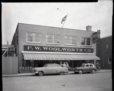 Woolworth's store on Gaetz Ave, 1954 Red Deer, AB Red Deer, Old Buildings, Back In The Day, Good Old, Historical Photos, The Past, History, Architecture, Favorite Things