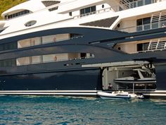 serene yacht  | The toy garage is opened on Serene and the megayacht is taller than my ...