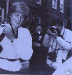 February 25, 1981: Lady Diana Spencer leaving her flat in London the day after the announcement of her engagement.