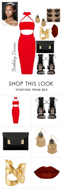 """""""Waiting on my birthday like...."""" by slayedbyk on Polyvore featuring Zimmermann, Sophie Hulme, Sole Society and Kenneth Jay Lane"""