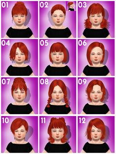 Sims 4 CC's - The Best: Toddlers Hair by coupurelectrique
