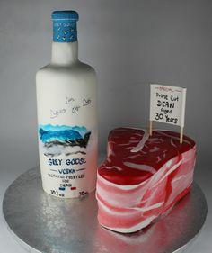 Steak and Vodka Cake