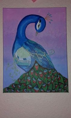 Acrylic painting - peacock
