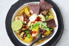 Mexican chicken and corn soup
