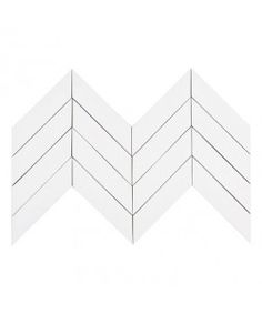 Kiln Chevron Milk - White Ceramic Tile