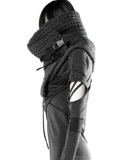 her-dysfunctional-mind: DEMOBAZA KNIT COWL SCARF