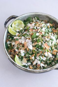 Herbal Rice Salad with Peanuts    - An herb-packed rice salad recipe with peanuts, toasted coconut, and a strong boost of fresh lime. A recipe to keep in your back pocket this summer. - from 101Cookbooks.com