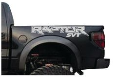 A personal favorite from my Etsy shop https://www.etsy.com/listing/206331831/ford-f150-svt-raptor-2-decal-kit-logo