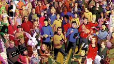 Time to get your digital magnifying glasses out and enjoy a Star Trek scavenger hunt. Dusty Abell, creator of the 1970s superhero panorama, has illustrated tons of characters, ships, and creatures from the original Star Trek series, assembling in a single, enormous poster.