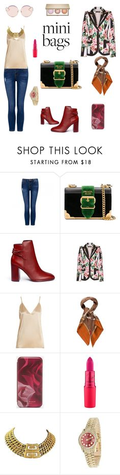 """""""Untitled #185"""" by jesica-d-psc on Polyvore featuring Prada, Mercedes Castillo, Dolce&Gabbana, Raey, Gucci, Ted Baker, Givenchy, Rolex and N°21"""