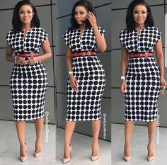 Corporate attire for Women African Attire, African Fashion Dresses, African Wear, African Dress, Classy Dress, Classy Outfits, Cute Dresses, Dresses For Work, Church Dresses
