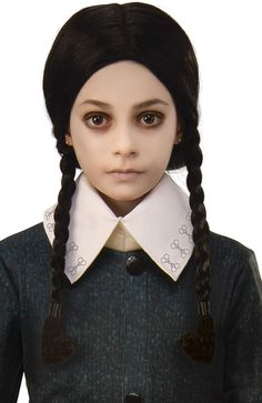 Rubie's Addams Family Animated Movie Child's Wednesday Wig, One Size