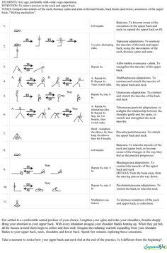 Short yoga practice for the neck and upper back - Sequence Wiz - create effective yoga sequences