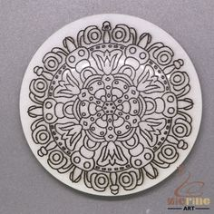 BLACK PAINTING MANDALA PENDANT WHITE STONE GEMSTONE JEWELRY ACCESSORY ZL6000026 #ZL #Pendant