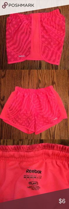 Reebok Shorts Pink patterned Reebok shorts. These fit very similar to Nike tempo shorts. They are in like new condition. Let me know if you have any questions! Just listed under Nike for views. Half price on Merc. Nike Shorts
