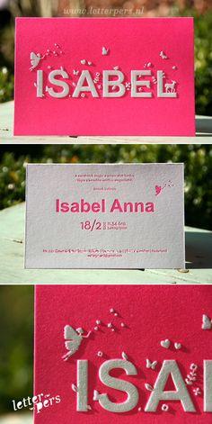 letterpers_letterpress_geboortekaartje_isabel_glanspapier_fluor_neon_roze_relief
