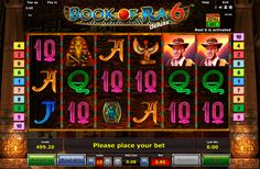 Welcome to amazing continuation of the legendary series of online slots, made by Novomatic. Book of Ra 6 has a screen with 5+1 reels and 10 pay lines.Unique features of this game are an extra bet option that activates the sixth reel and you can change the number of pay lines. This game has really cool visual effects and amazing design and symbols.