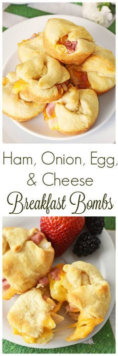 Ham, Onion, Egg, and Cheese Breakfast Bombs are the perfect brunch recipe.Perfectly flaky, buttery, and simply delicious. These are made in a muffin tin. AD SmithfieldBrunch