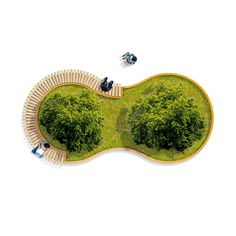 Many Shapes Can Be Created With Streetlifes Tree Isles System This Isle Creates A Playful Look Top View