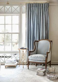 Interior designer Suzanne Kasler designed a glamorous master-suite for her own home via dustjacket attic
