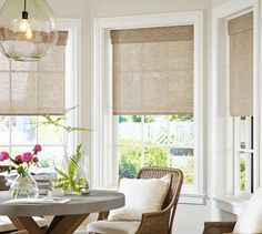 Natural Fiber Cordless Roman Shade | Pottery Barn
