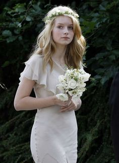 Lottie Moss at her sister's wedding