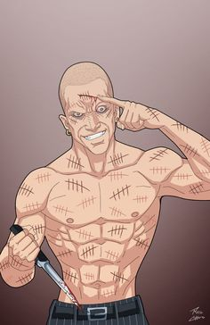 Victor Zsasz on the loose by phil-cho on DeviantArt