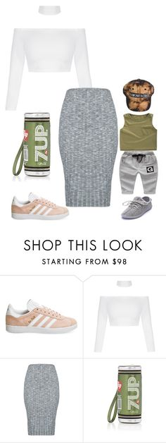 """""""Untitled #5223"""" by stylistbyair ❤ liked on Polyvore featuring adidas and Anya Hindmarch"""