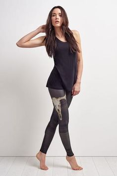 Teeki Deer Medicine Charcoal Hot Pant image 2 - The Sports Edit