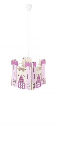 PRINCESS CHATEAU PENDANT LIGHT Surely your little princess deserves a castle, but before you call the architects, consider getting her this beautiful pendant light whose design was inspired by the most lavish royal residences. #Love4Lighting #KidsLighting Read More…
