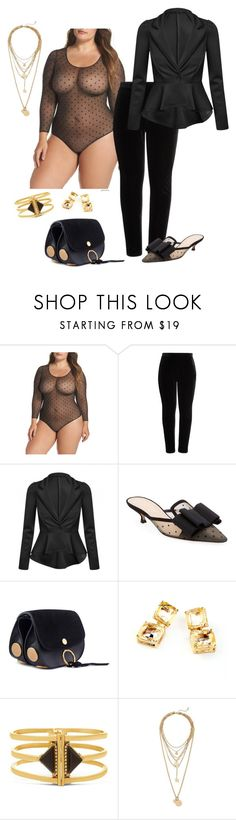 """""""Sexy underneath- plus size"""" by gchamama ❤ liked on Polyvore featuring SPANX, Elvi, Christian Dior, Chloé, Steve Madden, Rebecca Minkoff and plus size clothing"""