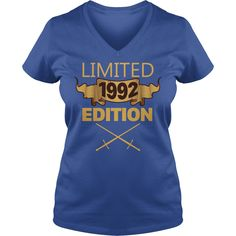 Limited 1992 Edition T Shirt Funny Birthday Gifts 25 Years Old #gift #ideas #Popular #Everything #Videos #Shop #Animals #pets #Architecture #Art #Cars #motorcycles #Celebrities #DIY #crafts #Design #Education #Entertainment #Food #drink #Gardening #Geek #Hair #beauty #Health #fitness #History #Holidays #events #Home decor #Humor #Illustrations #posters #Kids #parenting #Men #Outdoors #Photography #Products #Quotes #Science #nature #Sports #Tattoos #Technology #Travel #Weddings #Women