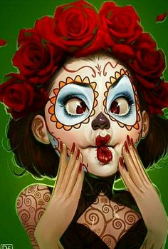 Cute Day of the Dead girl